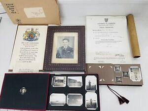 WW2 RAF Pilot Officer E M Morris Killed In Action Ephemera & Photographs Albums