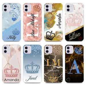 PERSONALISED INITIALS CASE COVER FOR APPLE IPHONE XR XS11 SE 6s 7 8 Plus x21081