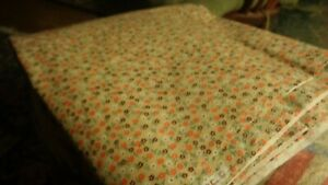 """Vintage calico design cotton quilting fabric  36"""" x 56"""""""