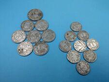 lot de 17 pieces 1F 2F 5F francs vintage 1940s 40s en aluminium