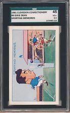 1961 DIXIE DEAN Clevedon Confectionary SGC 45 = PSA 3.5 VERY rare card AMAZING!