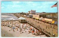 1960's ERA BEACH & BOARDWALK*OCEAN CITY NEW JERSEY*NJ*VINTAGE POSTCARD