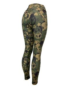 Camouflage Peace Signs Stars Hearts Leggings! Soft One Size Curvy Diva