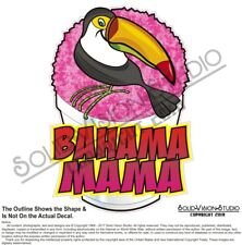 Flavors Shave Hawaiian Ice Cream Food Truck Concession Sign Decal Bahama Mama