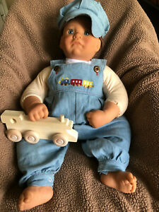 Lee Middleton Toot Sweet Boy Doll - Train Overalls and Cap