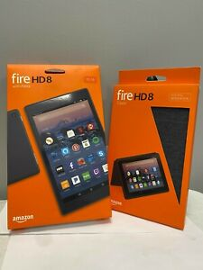 BUNDLE! Amazon Fire HD 8 (7th Generation) 32GB, Wi-Fi, 8In and Fire HD 8 Cover