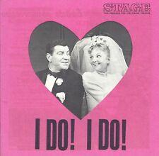 """Mary Martin """"I DO! I DO!"""" Robert Preston / Jones & Schmidt 1969 Detroit Program"""