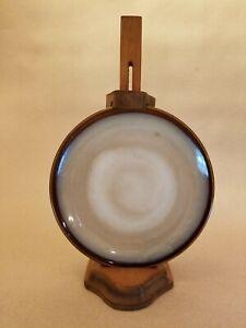 Rare Vintage Wooden Hanging Plate Holder - Light Brown & Adjustable