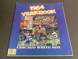 Tony LaRussa Ron Kittle Hoyt Chicago White Sox Autographed Signed 1984 Yearbook