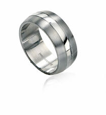 Fred Bennett Ring Steel Stainless Mens Band Jewellery R2510