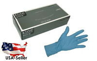 "NITRILE GLOVES EXAM GRADE POWDER-FREE TEXTURED 12"" LENGTH 8 MIL LARGE"