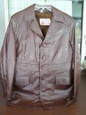 Vintage 70's Sears Leather Shop Men's Jacket Coat Size 40 R - Zip Out Fur Liner