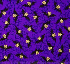 Minions Bite Me Halloween Bats  Purple Toss 100% cotton fabric by the yard