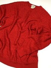 GIANNI VERSACE VINTAGE '94 ITALIAN RED THICK SWEATER MEN KNIT RAGLAN WOVEN ITALY