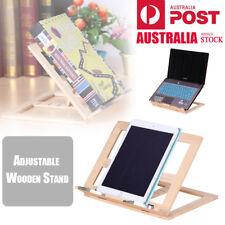 Wooden Desktop Stand Holder Bracket for iPad Laptop Reading Cookbook Book Rack