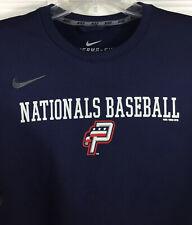 Nike Men's Potomac Nationals Minor League Baseball Sweatshirt Navy Gray Size L
