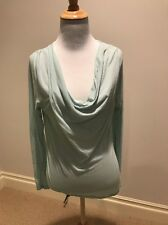 James Perse Light Blue Cowl Neck Top