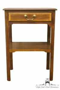 """SHERRILL FURNITURE Banded Mahogany Traditional Style 18"""" Nightstand / Accent ..."""