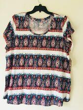 Lucky Brand Trendy Plus Size Printed-Stripe T-Shirt. Size 3X.