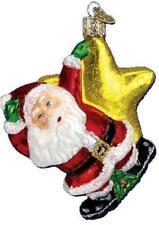 CELESTIAL SANTA SWINGING ON A STAR OLD WORLD CHRISTMAS GLASS ORNAMENT NWT 40134
