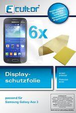 6x Samsung Galaxy Ace 3 Protector de Pantalla protectores transparente