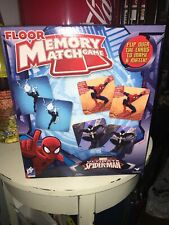 Ultimate Spiderman Floor Memory Match Game 54 Large Cards in Box Complete Marvel