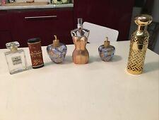 Lot 5 flacons vides Différents De Parfum Lempicka  Gaultier pour collectionneur.