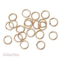 200 x 6mm Rose Gold Jump Rings - Closed Unsoldered Linking - Hoops