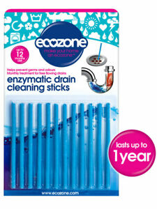Enzymatic Drain Cleaning Sticks - 12 pack (Ecozone)