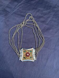 Antike Kropfkette Echt 800 Silber Filigran Trachtenschmuck um 1900 Oktoberfest