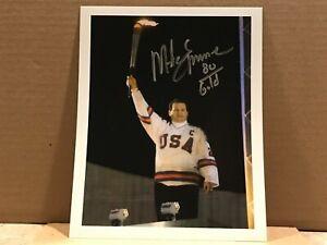 MIKE ERUZIONE Hand Signed Autograph 8x10 Photo - 1980 US HOCKEY OLYMPICS GOLD