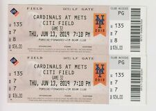 2019 June 13 New York Mets Vs Cardinals TICKET Conforto & Paul DeJong Home Run