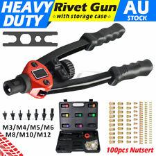 Nutsert M3 - M12 Nut Rivetnut Hand Tool Rivnut Gun Mandrels Rivet Blind Riveter