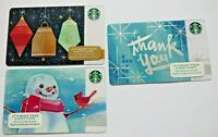 No Value STARBUCKS Gift Card Christmas 2020 Fox in Woods /& Cabin LOT of 2