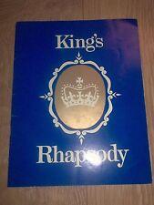 "BIRKENHEAD AMAT. OPERATIC "" KING'S RHAPSODY "" ROYAL COURT LIVERPOOL 1968 PROG."