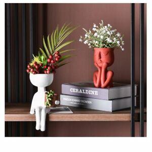 Character Portrait Flower Pot Resin Succulents Plant Pot Abstract Human Face