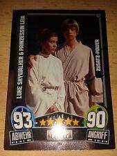 Force Attax Star Wars Serie Movie 3 Zusatz-Power 193 Luke & Leia Sammelkarte