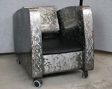 Stahlsessel Handarbeit, Rollbar, gefederte Rückenlehne, Künstlerarbeit