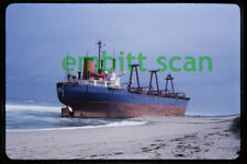 Original Slide, Maltese Cargo Ship Eldia Beached at East Orleans MA, 1984