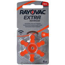 """6x Rayovac EXTRA Hörgeräte-Batterie Z 13 PR48 orange"