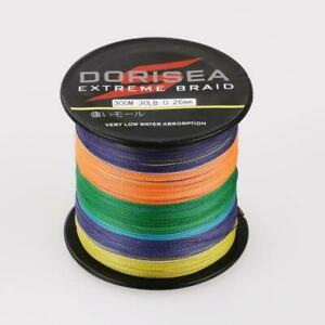 300M Multi-Color Dorisea Super Strong Dyneema PE Braided Sea Fishing Line
