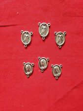 """NEW """"DIVINE MERCY & OUR LADY Rosary Center""""  3/4"""" H LOT of 6 pcs, PRISTINE"""