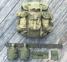 Us Issue Alice Rucksack and Field Gear Set, Pack, Belt Canteens and Pouches, 80s