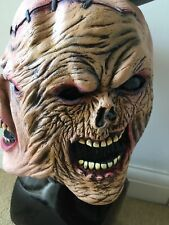 Horror Halloween Stitched Evil Zombie Experiment Mask Latex