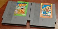 Nintendo NES Mystery Quest & Kung Fu Heroes carts cleaned & tested authentic