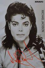 MICHAEL JACKSON - Autogrammkarte - Autograph Autogramm Sammlung Clippings