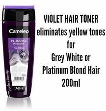VIOLET HAIR TONER RINSE Grey White Platinum Blond - Reduces Yellow Tones - 200ml
