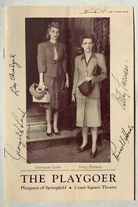 SIGNED BETTY FURNESS LEO CHALZEL RUSSELL HARDIE KING DONOVAN 1940s PLAY PROGRAM