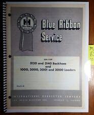 IH International 3120 3140 Backhoe & 1000 2000 2001 3000 Loader Service Manual