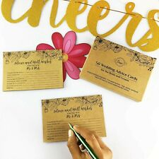Advice & Best Wishes Cards for Reception, Bridal Shower, Anniversary, Party/50pc